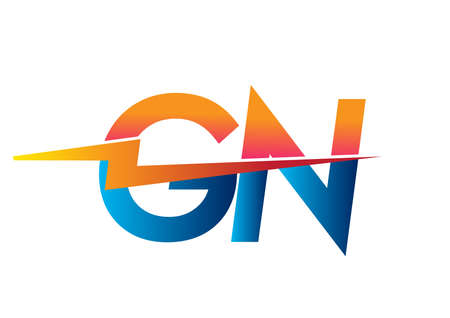 Letter GN logo with Lightning icon, letter combination Power Energy Logo design for Creative Power ideas, web, business and company.