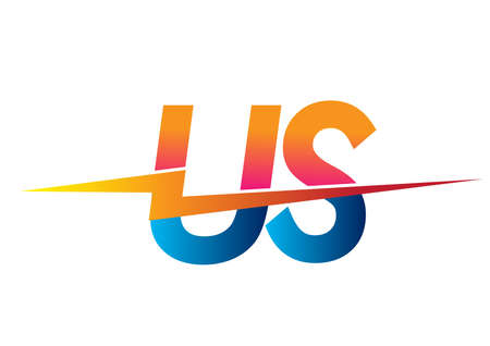 Letter US logo with Lightning icon, letter combination Power Energy Logo design for Creative Power ideas, web, business and company.