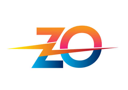 Letter ZO with Lightning icon, letter combination Power Energy design for Creative Power ideas, web, business and company. Ilustracje wektorowe