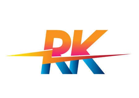 Letter RK logo with Lightning icon, letter combination Power Energy Logo design for Creative Power ideas, web, business and company.