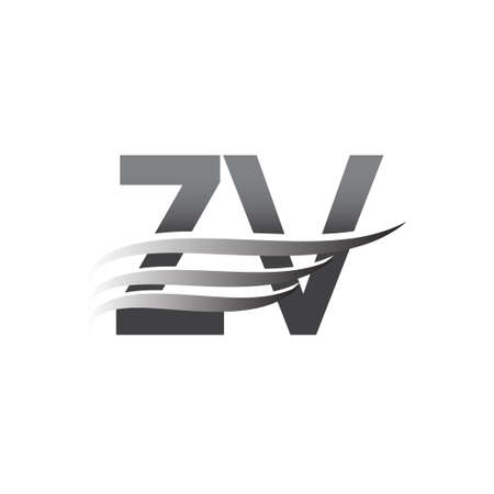 Initial ZV wing symbol, grey color vector symbol for company name business and company identity.