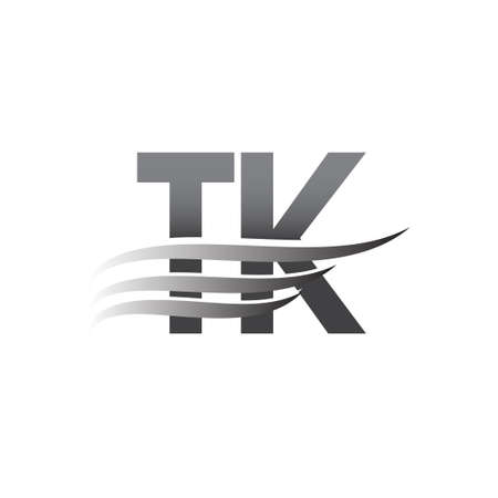 Initial TK wing logo, grey color vector logotype, logo for company name business and company identity. Logó