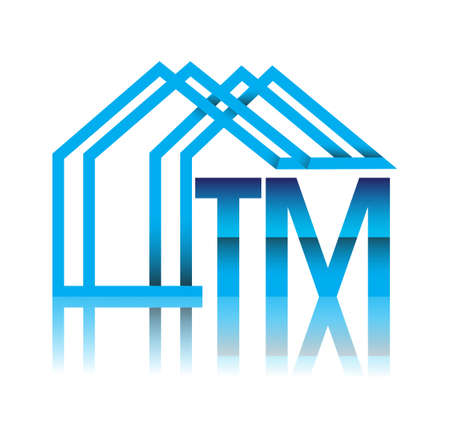 initial logo TM with house icon, business logo and property developer.