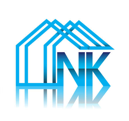 initial   NK with house icon, business   and property developer.