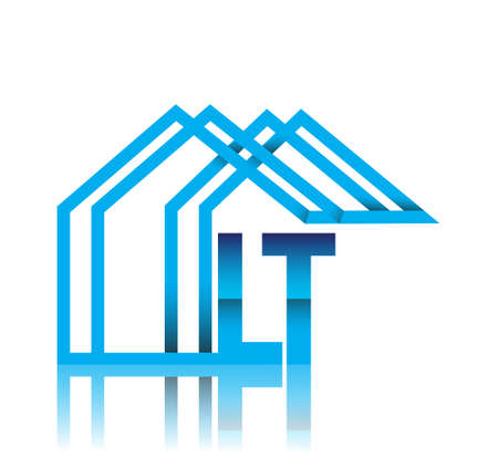 initial logo LT with house icon, business logo and property developer. Illusztráció