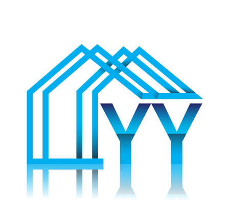 initial YY with house icon, business and property developer.