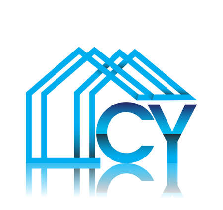 initial logo CY with house icon, business logo and property developer.