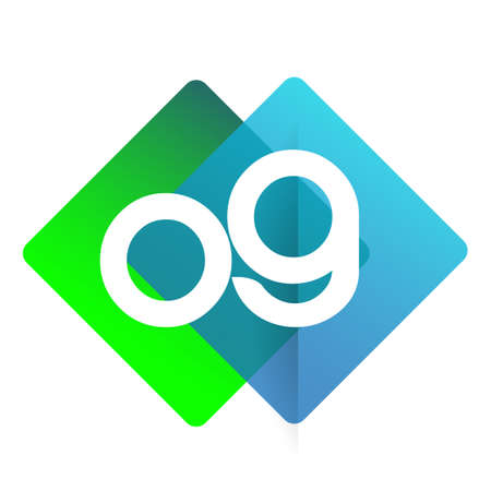 Letter OG with colorful geometric shape, letter combination design for creative industry, web, business and company.