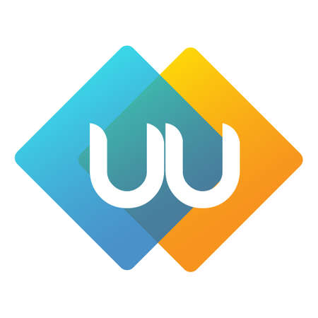 Letter UU with colorful geometric shape, letter combination design for creative industry, web, business and company.