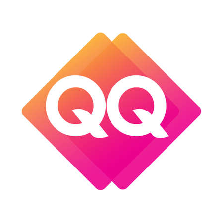 Letter QQ with colorful geometric shape, letter combination design for creative industry, web, business and company. Ilustracja