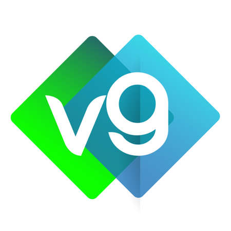 Letter VG with colorful geometric shape, letter combination design for creative industry, web, business and company. Ilustracja