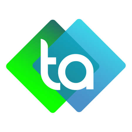 Letter TA with colorful geometric shape, letter combination design for creative industry, web, business and company.