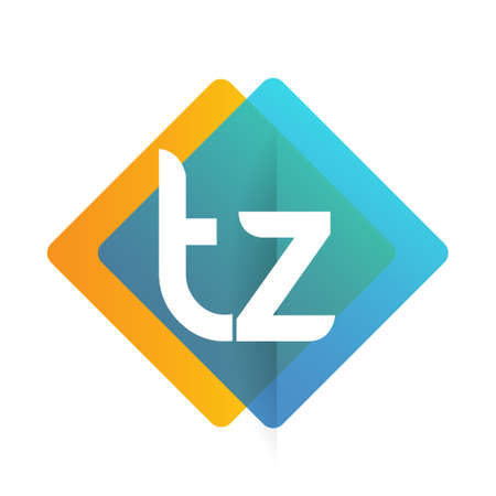 Letter TZ logo with colorful geometric shape, letter combination logo design for creative industry, web, business and company. Logó