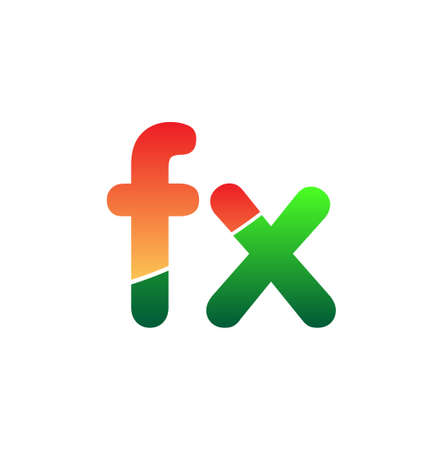 Initial Letter FX Logo Lowercase, colorful logotype Modern and Simple Logo Design.