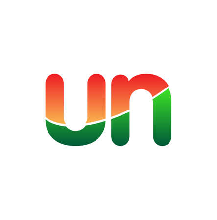 Initial Letter UN Lowercase, colorful Modern and Simple Design. 向量圖像