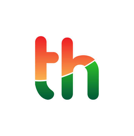 Initial Letter TH Logo Lowercase, colorful logotype Modern and Simple Logo Design.