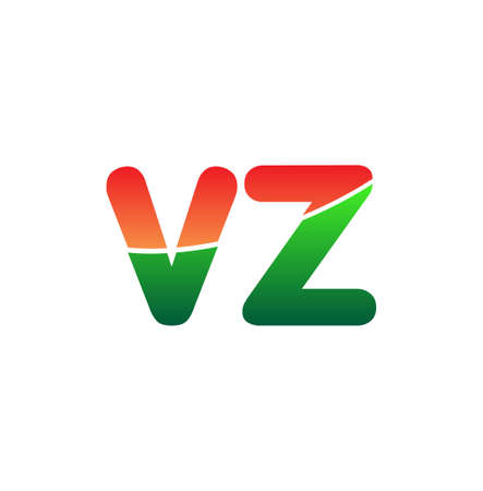 Initial Letter VZ Logo Lowercase, colorful logotype Modern and Simple Logo Design. Logó