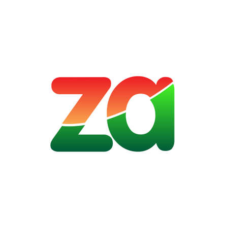 Initial Letter ZA Logo Lowercase, colorful logotype Modern and Simple Logo Design. Logo
