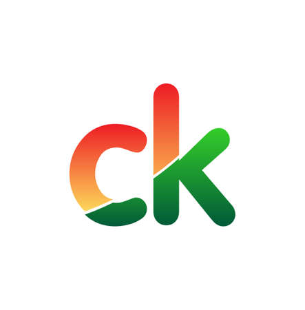 Initial Letter CK Logo Lowercase, colorful logotype Modern and Simple Logo Design.
