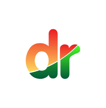 Initial Letter DR Lowercase, colorful Modern and Simple Design.