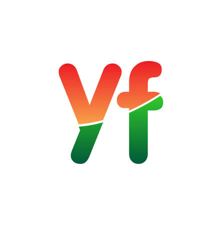 Initial Letter YF Lowercase, colorful Modern and Simple Design. 向量圖像