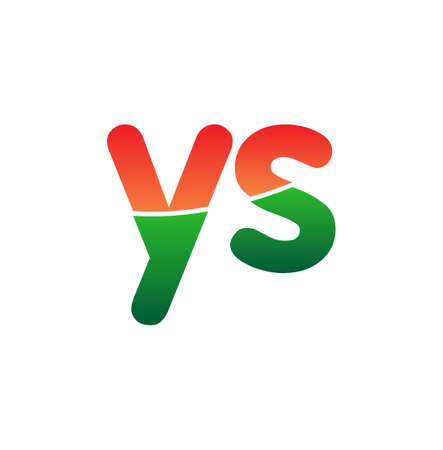 Initial Letter YS Lowercase, colorful Modern and Simple Design.