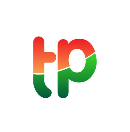 Initial Letter TP Lowercase, colorful Modern and Simple Design.