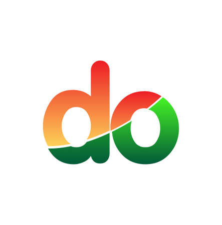 Initial Letter DO Lowercase, colorful Modern and Simple Design. 向量圖像