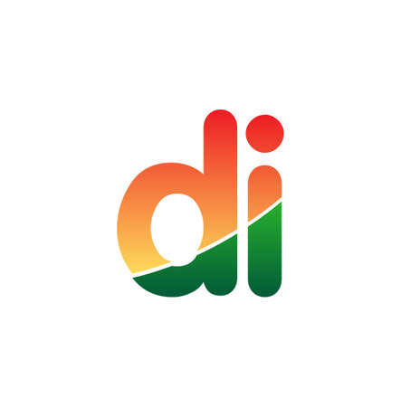 Initial Letter DI Lowercase, colorful Modern and Simple Design.