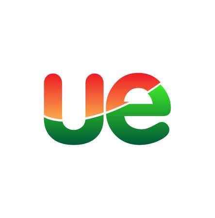 Initial Letter UE Lowercase, colorful Modern and Simple Design. 向量圖像