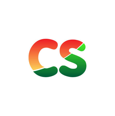 Initial Letter CS Lowercase, colorful, Modern and Simple Design.