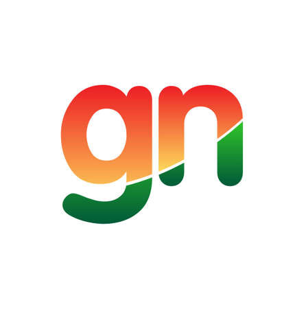 Initial Letter GN Lowercase, colorful, Modern and Simple Design.