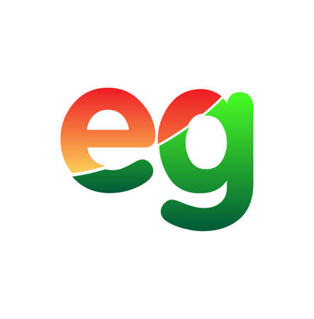 Initial Letter EG Logo Lowercase, colorful logotype Modern and Simple Logo Design.