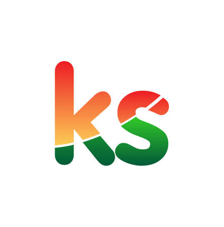 Initial Letter KS Logo Lowercase, colorful logotype Modern and Simple Logo Design.