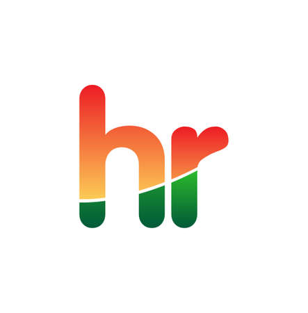 Initial Letter HR Logo Lowercase, colorful logotype Modern and Simple Logo Design.