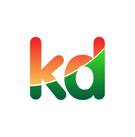 Initial Letter KD icon Lowercase, colorful Modern and Simple icon Design.