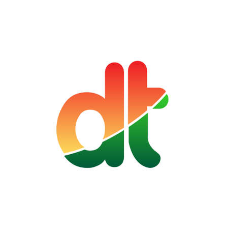 Initial Letter DT Logo Lowercase, colorful logotype Modern and Simple Logo Design. Logo
