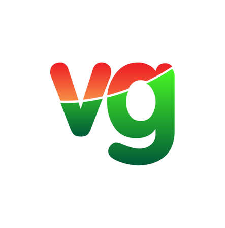 Initial Letter VG Logo Lowercase, colorful logotype Modern and Simple Logo Design.
