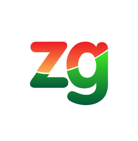 Initial Letter ZG Logo Lowercase, colorful logotype Modern and Simple Logo Design.