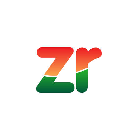 Initial Letter ZR Logo Lowercase, colorful logotype Modern and Simple Logo Design.