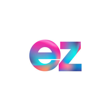 Initial Letter EZ Lowercase colorful design, Modern and Simple Design.