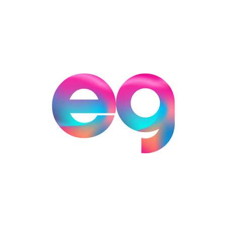 Initial Letter EG Logo Lowercase colorful design, Modern and Simple Logo Design. Logó