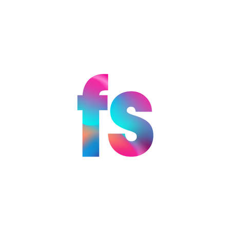Initial Letter FS Lowercase colorful design, Modern and Simple Design.