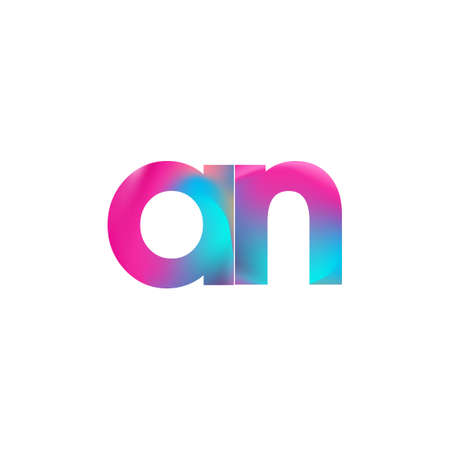 Initial Letter AN Lowercase colorful design, Modern and Simple Design. Çizim