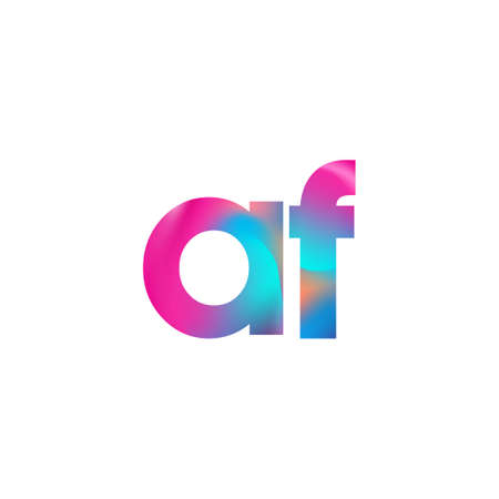 Initial Letter AF Lowercase colorful design, Modern and Simple Design.