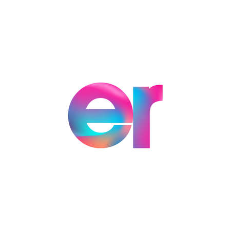 Initial Letter ER Lowercase colorful design, Modern and Simple Design.