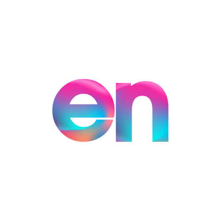 Initial Letter EN Lowercase colorful design, Modern and Simple Design.
