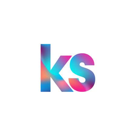 Initial Letter KS Logo Lowercase colorful design, Modern and Simple Logo Design.