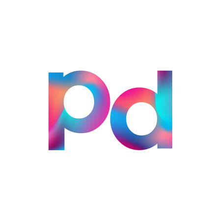 Initial Letter PD Logo Lowercase colorful design, Modern and Simple Logo Design. Logo