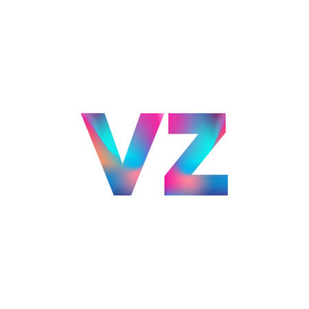Initial Letter VZ Logo Lowercase colorful design, Modern and Simple Logo Design.